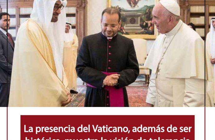 Visita histórica: El Papa Francisco viaja a los Emiratos Árabes Unidos.