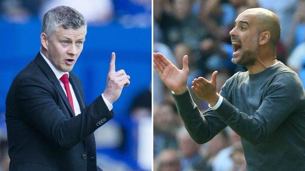 El Man Utd v Man City: Pep Guardiola ha sorprendido por Ole Gunnar Solskjaer comentarios