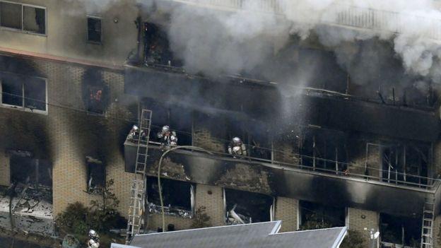 Fuego de Animación de Kyoto: Al menos 26 muertos