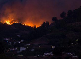 las Islas Canarias : 9,000 personas han huido de un incendio forestal