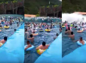 Parque acuático chino : 44 heridos por la onda gigantesca