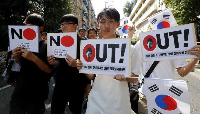 EE.UU. expresa alarma por la disputa de Corea del Sur con Japón