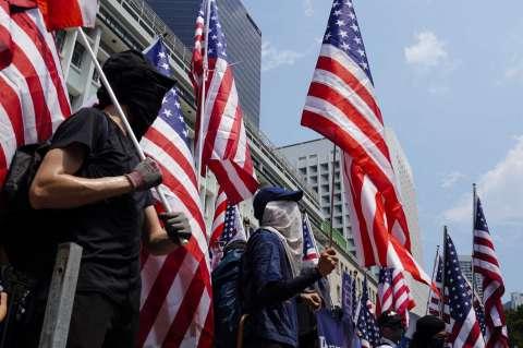 "Manifestantes de Hong Kong exigen a Trump ""liberar su ciudad"""