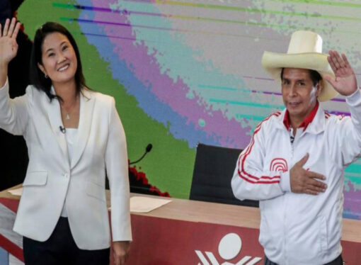 Supporters of Peru's competing presidential candidates take to roads amid election frenzy